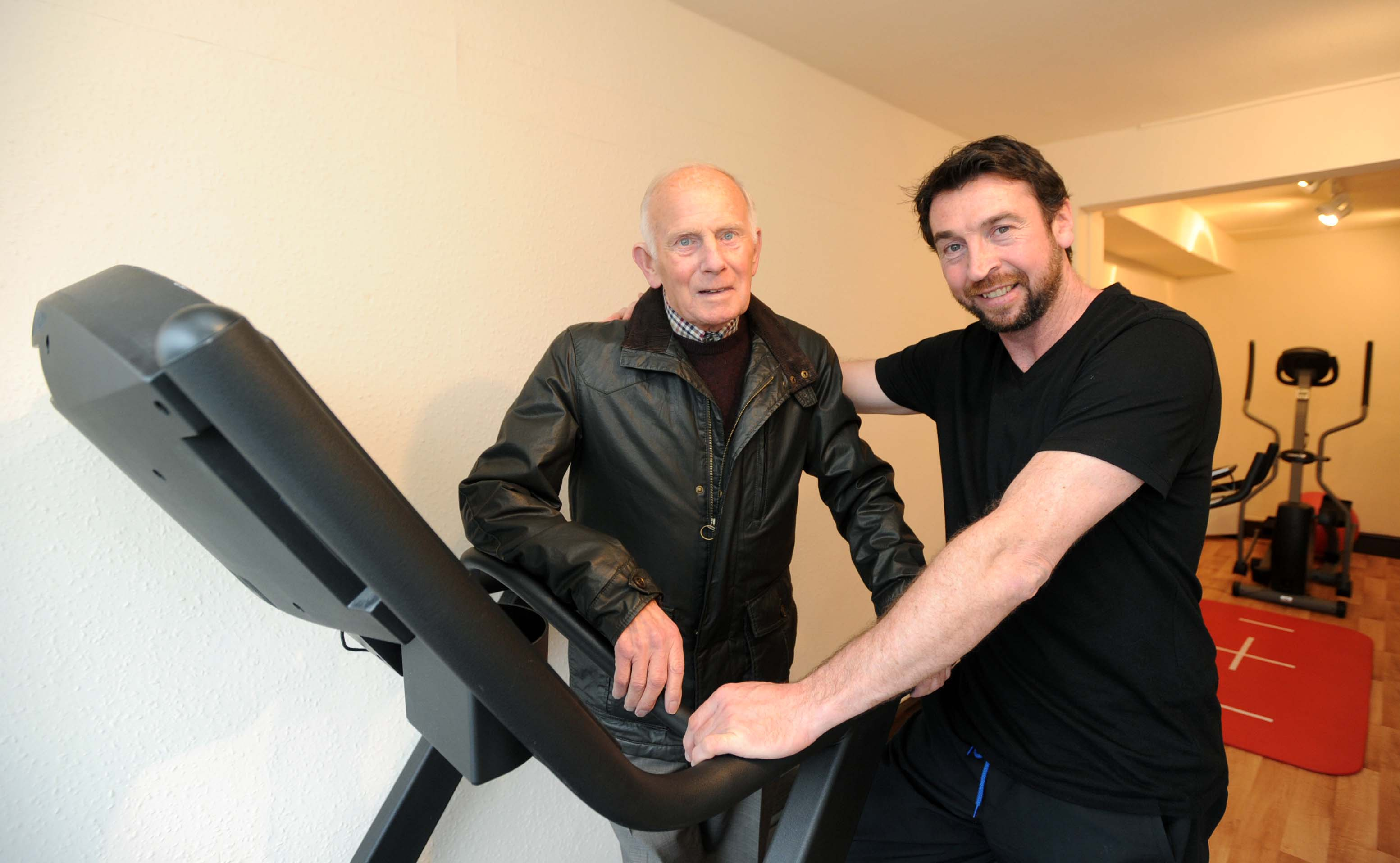Former Tranmere manager Johnny King as he opened former striker Chris Malkin Physiotherapy in Heswall. Photo by Colin Lane